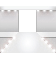 empty fashion runway vector image