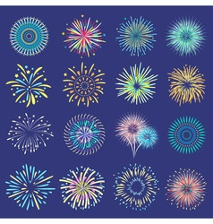 Festive balls on dark blue background vector