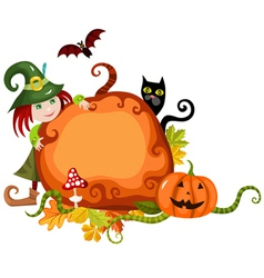 Halloween which and characters vector