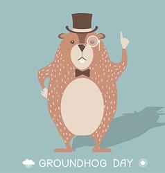 Happy groundhog day card vector