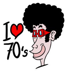 I love 1970 vector