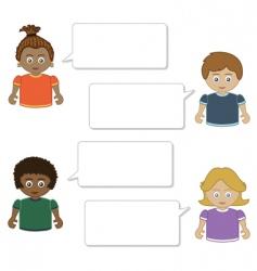 kids speech vector image vector image