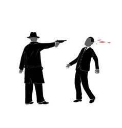 killing with gun vector image vector image