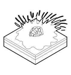 Meteor falling icon in outline style vector
