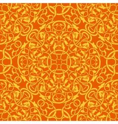 orange seamless wallpaper pattern vector image