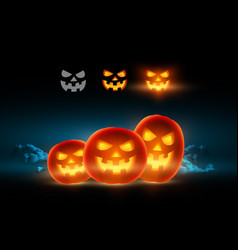 pumpkin face for flyer cover banner vector image vector image