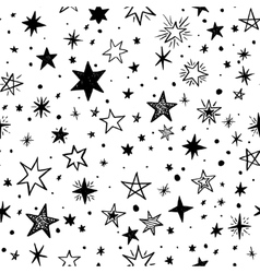 Seamless pattern with handdrawn stars vector image vector image