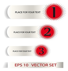 Set of Sample stickers for various options vector image vector image