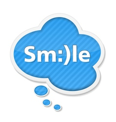 Speech bubble with smile vector image vector image
