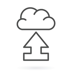 upload to cloud service vector image