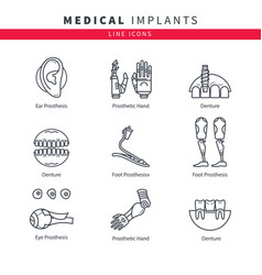 Various medical prostheses vector
