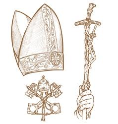 Vatican Symbols vector image