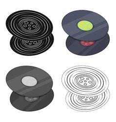 vinyl recordshippy single icon in cartoon style vector image vector image