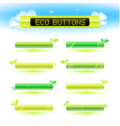 web menu buttons set for business site vector image