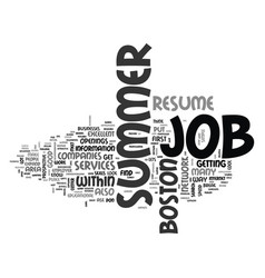 What you need to do to get that job text word vector
