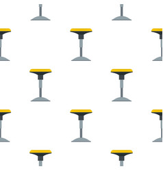Yellow bar stool pattern flat vector