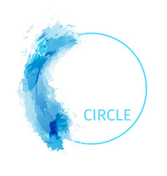 Zen circle abstract modern background design vector