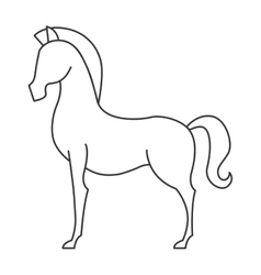 Horse animal equine icon vector