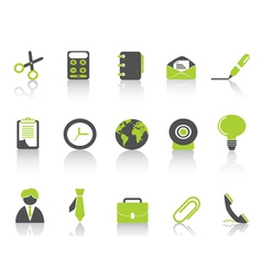 office icon green series vector image