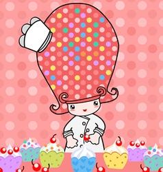 Little bakery vector image