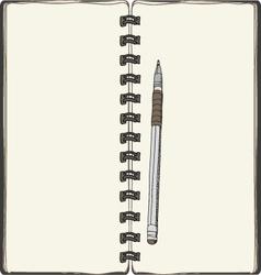 Notebook background vector
