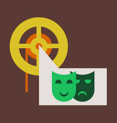 Flat icon film mask vector