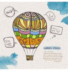 Decorative sketch of balloon vector