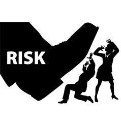 risk foot step on uninsured business people vector image