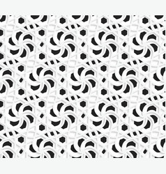 Layered 3d ornament with black on white background vector