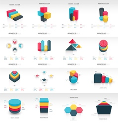 Graph design 3d info graphic template vector