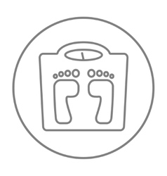 Weighing scale line icon vector