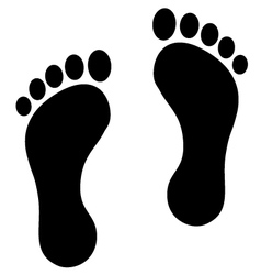 Footprint black vector image