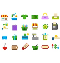 Store isolated icons set vector image