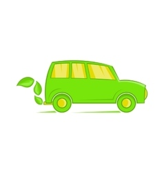 Eco car icon cartoon style vector