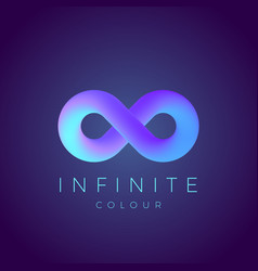 Abstract infinity symbol with modern vector