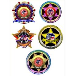 al 0837 sheriff set vector image vector image