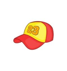 Baseball cap icon cartoon style vector image vector image