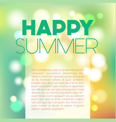 Blurred summer postcard vector