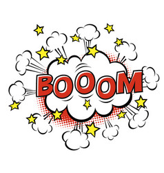 boom phrase in speech bubble comic text bubble vector image vector image