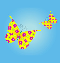 Butterfly preview vector