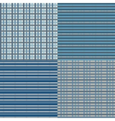 Checkered Seamless Blue vector image vector image