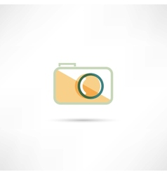Color camera icon vector image vector image