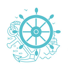 concept of seafaring icon vector image