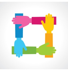 Creative hand icon vector