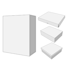 Design of four cardboard Package Box vector image vector image