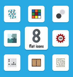 Flat icon play set of poker gomoku chequer and vector