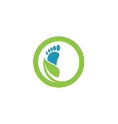Foot logo template vector