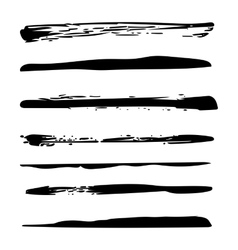 Grunge brush strokes texture background design vector image