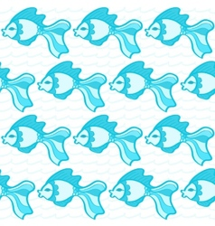Hand drawn fish seamless pattern vector image vector image