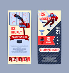 Hockey banners set vector